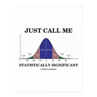 Just Call Me Statistically Significant Postcard
