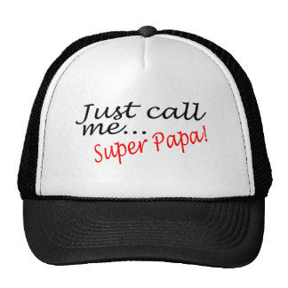 Just Call Me Super Papa Mesh Hats