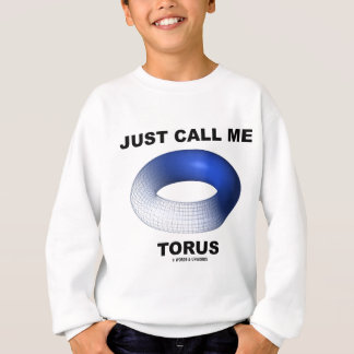 Just Call Me Torus (Blue Torus Topology) Sweatshirt