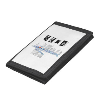 Just Call Me Vein Venous System Medical Humor Tri-fold Wallet