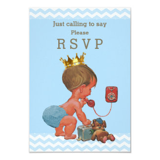 Just Calling to Say Please RSVP Prince Chevrons Card