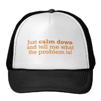 Just Calm Down Trucker Hat