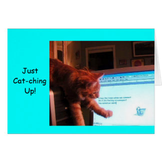 Just Cat-ching Up! Card
