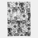 just cats kitchen towel