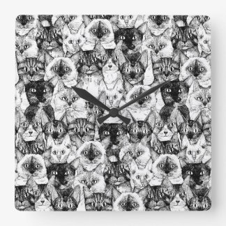 just cats square wallclocks