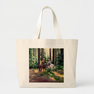JUST CHATIN' by SHARON SHARPE Large Tote Bag