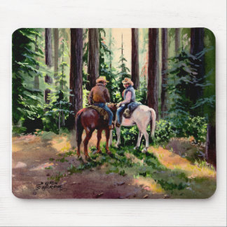 JUST CHATIN' by SHARON SHARPE Mouse Mat