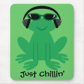 Just Chillin' Frog With Headphones Mousepad