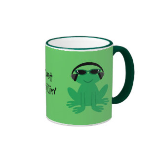 Just Chillin' Frogs With Headphones & Shades Coffee Mug