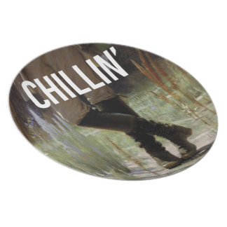 Just Chillin' in the meadow - Trendium Art Caption Dinner Plate