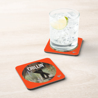Just Chillin' in the meadow - Trendium Art Caption Drink Coaster