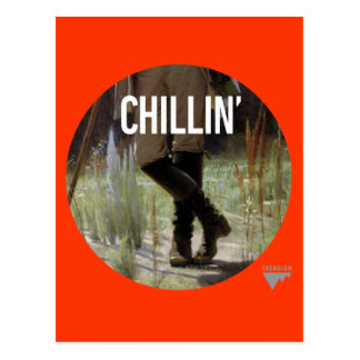 Just Chillin' in the meadow - Trendium Art Caption Postcard