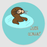 Just Chillin Otter Stickers