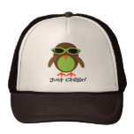 Just Chillin' Owl With Shades Trucker Hat