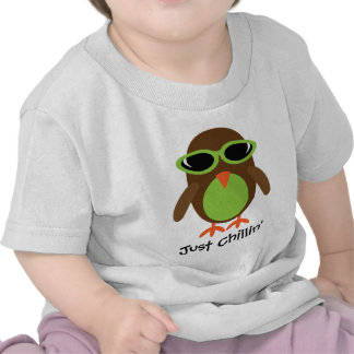 Just Chillin' Owl With Shades Shirts