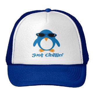 Just Chillin' Penguin With Sunglasses Trucker Hat