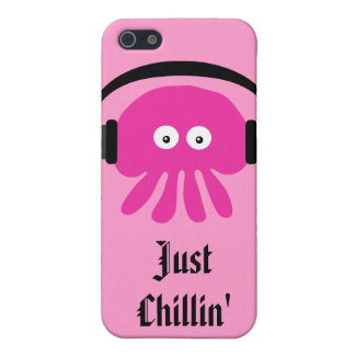 Just Chillin Pink Jellyfish With Heads iPhone 5 Cover