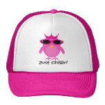 Just Chillin' Pink Princess Owl With Shades Mesh Hats