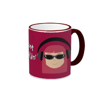 Just Chillin Redhead With Headphones Shades Mugs