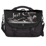 Just Chillin Skeleton Laptop Bags