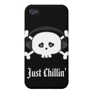 Just Chillin Skull With Heads iPhone 4/4S Covers