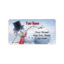 Just Chillin' Snowman Address Labels