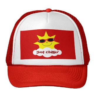 Just Chillin' Sun With Sunglasses Trucker Hat