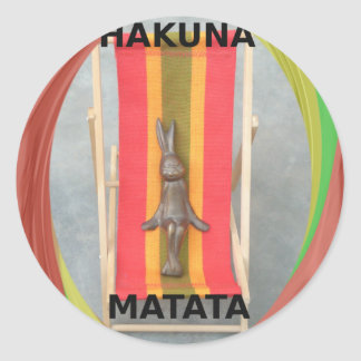 Just Chilling Hakuna Matata summer time Classic Round Sticker