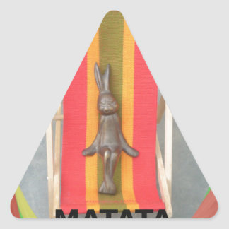 Just Chilling Hakuna Matata summer time Triangle Sticker