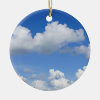 Just Clouds Ceramic Ornament