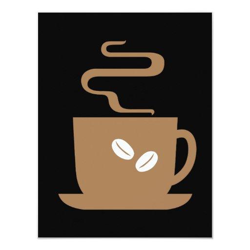 "Just Coffee 4.25"" X 5.5"" Invitation Card"