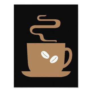 Just Coffee 4.25x5.5 Paper Invitation Card