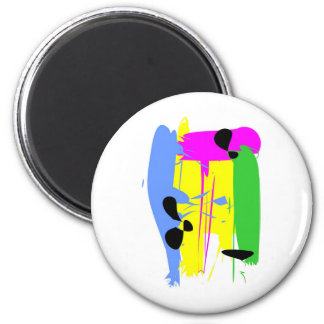 Just Color II3 2 Inch Round Magnet