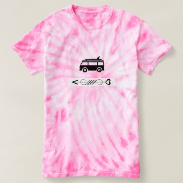 Beach Themed Just cool pink tie dye tee