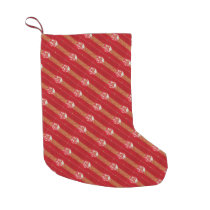 Just  Cool Red Festive Christmas Stocking