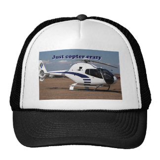 Just copter crazy: Blue & White Helicopter Trucker Hat