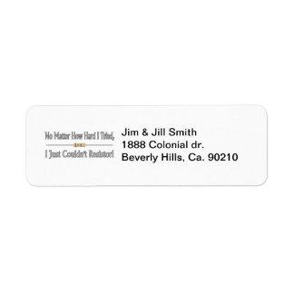 Just Couldn't Resistor Custom Return Address Label