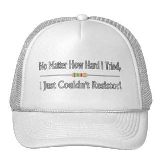 Just Couldn't Resistor Trucker Hat