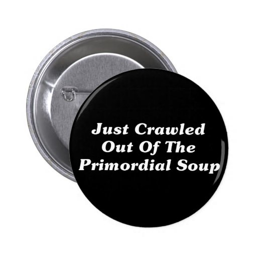 Just Crawled Out Of The Primordial Soup Pinback Button