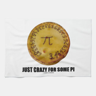 Just Crazy For Some Pi (Pi / Pie Math Humor) Towels