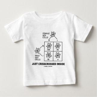 Just Crisscrossed Inside (Punnett Square Attitude) Baby T-Shirt