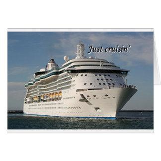 Just cruisin': cruise ship 3 card