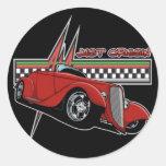 Just Cruisin Hot Rod Classic Round Sticker