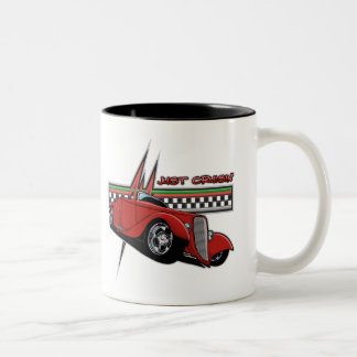 Just Cruisin Hot Rod Two-Tone Coffee Mug