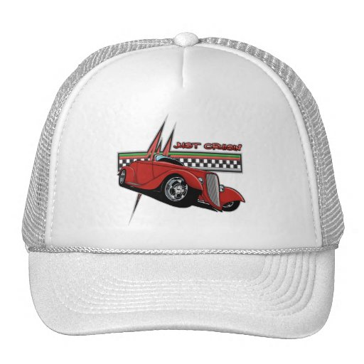Just Cruisin Hot Rod Trucker Hat