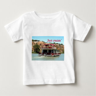 Just cruisin': houseboat, Murray River, Australia Baby T-Shirt