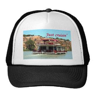 Just cruisin': houseboat, Murray River, Australia Trucker Hat