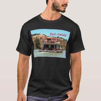 Just cruisin': houseboat, Murray River, Australia T-Shirt