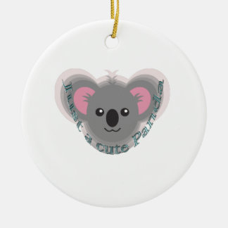 Just cute panda ceramic ornament