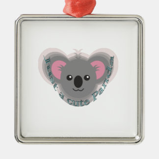 Just cute panda metal ornament